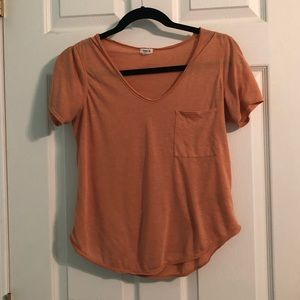 Orange short sleeve tee shirt (small)